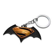 Superman vs Batman Keychain Yellow Metal Super Heroes Marvel Key Chain Gift Toys