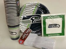 NFL Disposable Party Set, Seattle Seahawks, NEW