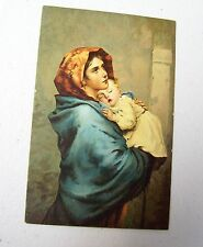 Vintage STENGEL   Dresden Postcard - Madonna & Child