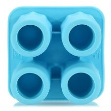 4-Cup Ice Cube Shot Shape Silicion Shooters Glass Freeze Mold Mould Tray Party