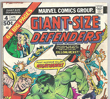 GIANT-SIZE DEFENDERS #4 Doctor.Strange, Hulk from Apr. 1975 in VG- Condition