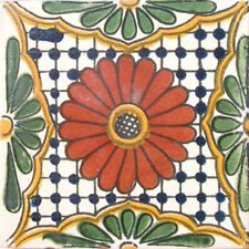 90 MEXICAN CERAMIC TILES WALL OR FLOOR USE CLAY TALAVERA MEXICO POTTERY #C023
