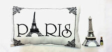 """Paris""  Accent Pillow & Eiffel Tower Porcelain Hinged Box - Gift Set - Unique!"