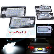 2x LED License Number Plate Light Canbus for Audi A3 A4 B6 B7 A6 S4 S6 A8 Q7 RS4