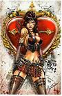 SEXY QUEEN OF HEARTS ART PRINT Signed by Artist JAMIE TYNDALL