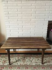 Mid Century Modern Vintage Slat Bench (George Nelson Style) Made In Italy
