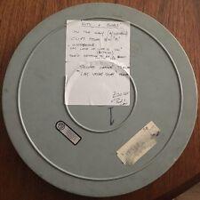 Película de película 16mm Vintage Muy Raro 1600ft Carrete de metal con diversos contenidos viejo cine