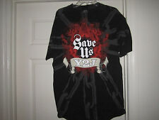 VINTAGE WWF WWE CHRIS JERICHO T SHIRT Y2J SAVE US WRESTLING TEE WCW LARGE L