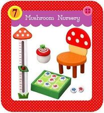 Re-ment Mushroom Paradise - Chair, height measurement and others room decor