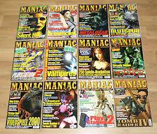 Maniac M! M Games Magazine fascicule édition 1 2 3 4 5 6 7 8 9 10 11 12/1999