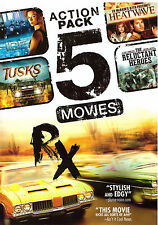 Action Pack 5 Movies (DVD, 2014) Rx, Tusks, etc., action, thriller, over 7 hours