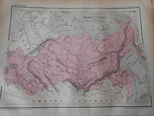 Carte Map couleur La Russie d'Asie 1877