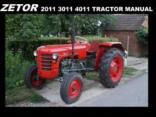 ZETOR 2011 3011 4011 OPERATIONS MANUAL for Tractor Maintenance Service & Repair