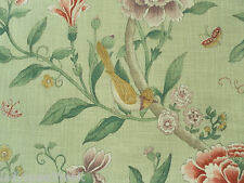 Sanderson Curtain Fabric PORCELAIN GARDEN 1.0m Rose/Fennel Floral 100cm