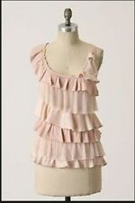 Anthropologie Tutu Tank Sz L, Tiered Light Pink Racerback Top Blouse By Ric Rac