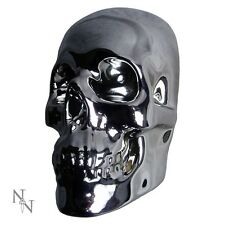 Nemesis Now Silver Chrome Effect Skull Wall Plaque - Gothic NEW