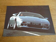LOTUS ESPRIT SE  SALES 'BROCHURE'/SHEET LATE 80's