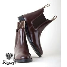 Rhinegold Childrens Classic Leather Jodhpur Boots – Size 5, BROWN **FREE P&P**