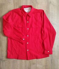 Levi's Vintage Clothing LVC 1940's Red Wool Western Over Shirt Small S £150 New