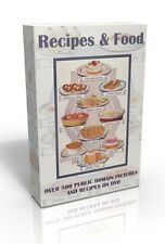 Recipes & Food - Over 500 colour public domain pictures on DVD!