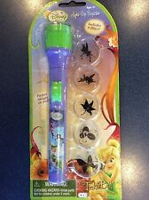NEW Disney FAIRIES TINKER BELL Girls Torch Flash Light Projector 5 Caps NWT