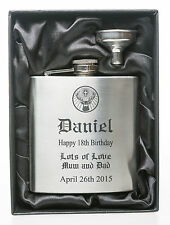Engraved BIRTHDAY JagerDesign Hip Flask in Gift Box For 18th/21st/30th/40th