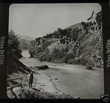Glass Magic lantern slide VRBAS RIVER C1910 BOSNIA & HERZEGOVINA