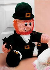 LEPRECHAUN DOORSTOP - ST. PAT'S DRESS & TAM - COASTERS PLUS - CROCHET PATTERNS