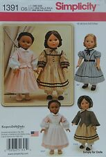 "Simplicity 1391 PATTERN for Vintage 18"" DOLL CLOTHES Colonial Prairie Victorian"