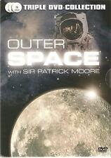 OUTER SPACE WITH SIR PATRICK MOORE - 3 DVD'S MOORE ON THE MOON & TOTAL ECLIPSE