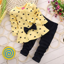 Newborn Baby Girls Cute T-Shirt Tops+Pants Outfits Toddler Kids Clothes