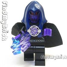 M095 Lego Wizard Minifigure with Lighting Force Cape & AntiMatter Hood Mask NEW