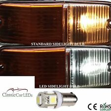2x POSITIVE EARTH MG TRIUMPH JAGUAR AUSTIN HEALEY MORRIS LED BULBS BA9S GLB233