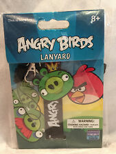 Green Angry Birds King Pig Lanyard Key Chain Soft Necklace 92248 New In Package