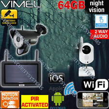 Wireless Security System 64GB Cameras Office House IP WIFI Mobile Phone View