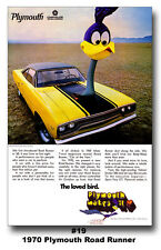1970 Plymouth Road Runner The Loved Bird Ad Poster 24x36 RTS 440 383 426 HEMI
