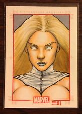 White Queen Marvel 70th Anniversary color sketch card 1/1 Erik Maell