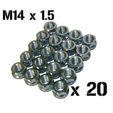 20x Shallow Slimline Open Ended Wheel Nuts M14 x 1.5 FORD PORSCHE DODGE