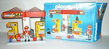GUC Playmobil Service Station Set #3218 Gas Station Incomplete PLEASE READ DESC