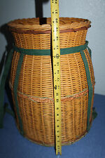 Large   woven   wicker  basket    Wicker   Barrel