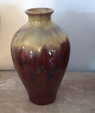 Three Hands Corp Large Flower Vase Cream And Brown Grey Ceramic High Gloss