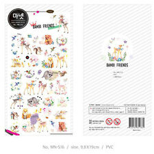 Manet Genuine Korean Bambi Friends Decorative Stickers Adhesive Stickers