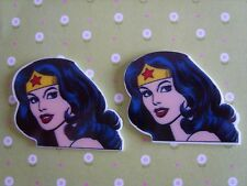 2 x Large Wonder Woman Flatback Planar Resin, Hair Bow, Crafts Embellishments UK