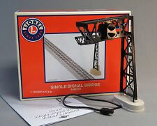 LIONEL SINGLE SIGNAL BRIDGE track accessory plug n play red green 6-83173 NEW