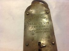 Antique Rustic Chatillon's Balance No 2 New York Scale Patd 1892 Weight 50lbs