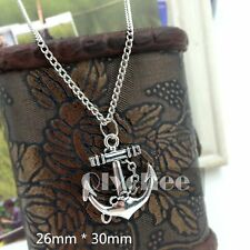 1X  Women Girls Charm Silver Anchor Necklace Jewelry Chain Pendant Fashion Cheap
