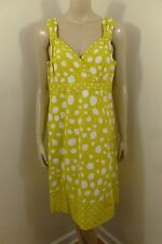 Boden Yellow Polka Dots Sleeveless Dress Woman Size 12 US (16 UK)