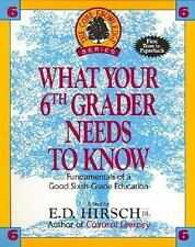 What Your Sixth Grader Needs to Know: Fundamentals of a Good Sixth-Grade Educati