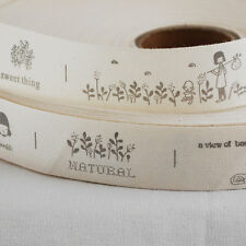 Cotton Fabric Ribbon Sewing Label - Nature Country Life