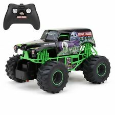 """New Bright 2430 Monster Jam Grave Digger Rc Truck 1:24 (7"""" ) Scale Toy Play"""